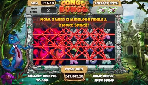 Congo Bongo Big Bonus Slots Multiple winning paylines triggers a big win