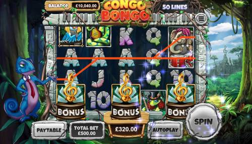 Congo Bongo Big Bonus Slots Bonus feature triggered