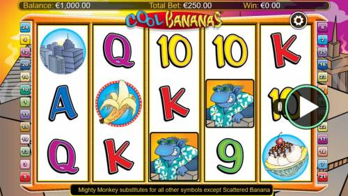 Cool Bananas Classix Big Bonus Slots Main Game Board