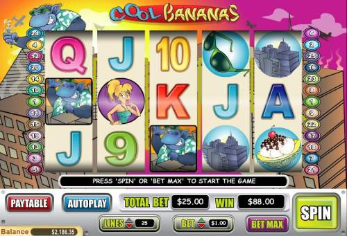 Cool Bananas review on Big Bonus Slots