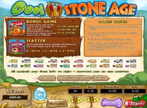 Cool Stone Age review on Big Bonus Slots