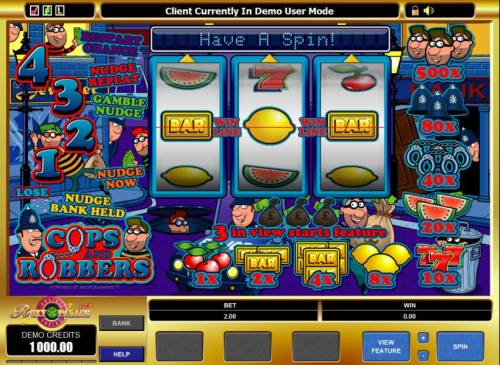 Cops And Robbers review on Big Bonus Slots