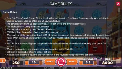Copy Cats review on Big Bonus Slots