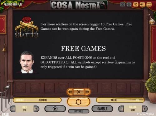 Cosa Nostra Big Bonus Slots Scatter Symbol Rules