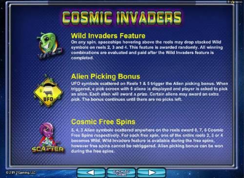 Cosmic Invaders review on Big Bonus Slots