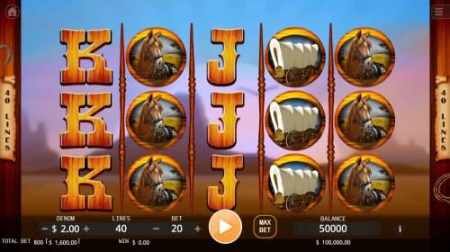 Cowboys Big Bonus Slots Main Game Board