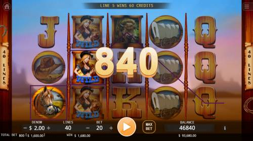 Cowboys Big Bonus Slots A winning three of a kind
