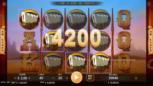 Cowboys Big Bonus Slots Multiple winning paylines triggers a big win