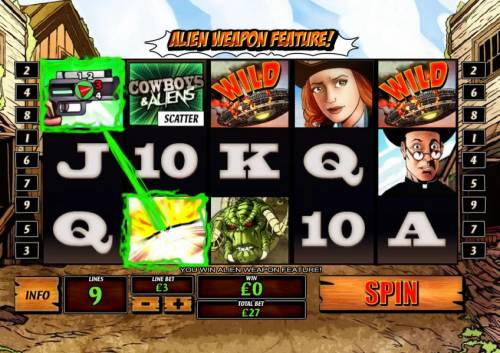 Cowboys & Aliens review on Big Bonus Slots