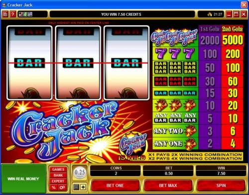 Cracker Jack review on Big Bonus Slots