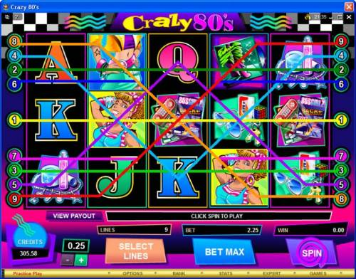Crazy 80s review on Big Bonus Slots