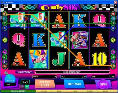 Crazy 80s review on Big Bonus Slots
