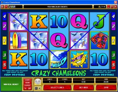Crazy Chameleons review on Big Bonus Slots