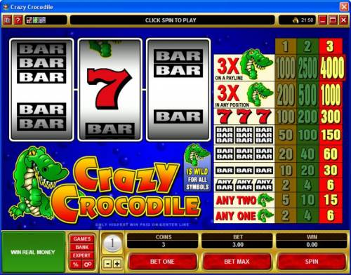 Crazy Crocodile review on Big Bonus Slots