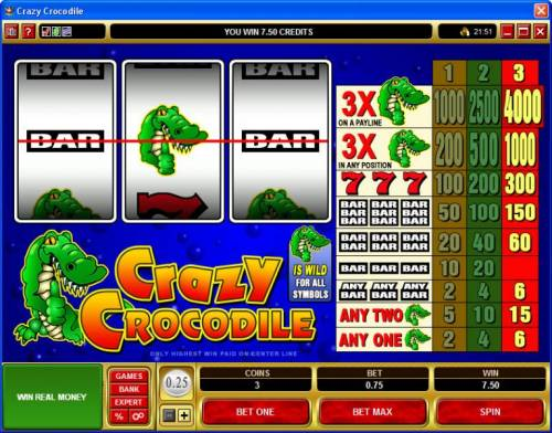 Crazy Crocodile review on Big Bonus Slots