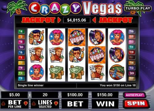 Crazy Vegas review on Big Bonus Slots