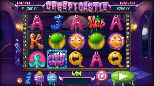 Creepy Castle Big Bonus Slots Main Game Board
