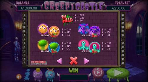 Creepy Castle Big Bonus Slots High Value Symbols