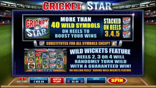 Cricket Star review on Big Bonus Slots