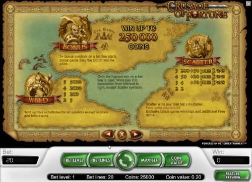 Crusade of Fortune review on Big Bonus Slots