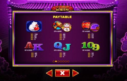 Da Hei Ci Fu Big Bonus Slots Paytable