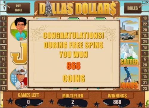 Dallas Dollars review on Big Bonus Slots