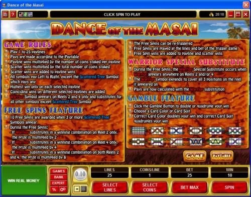 Dance of the Masai review on Big Bonus Slots