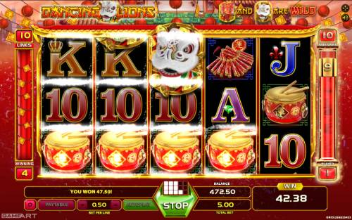 Dancing Lions review on Big Bonus Slots