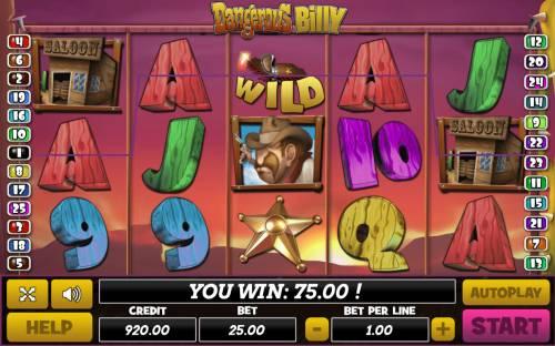 Dangerous Billy review on Big Bonus Slots