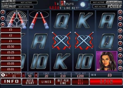 Daredevil Big Bonus Slots bet anywhere from .01 to 5.00 per payline