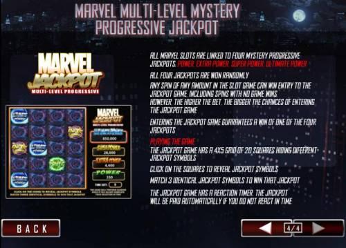 Daredevil Big Bonus Slots all marvel slots are linked to four mystery progressive jackpots