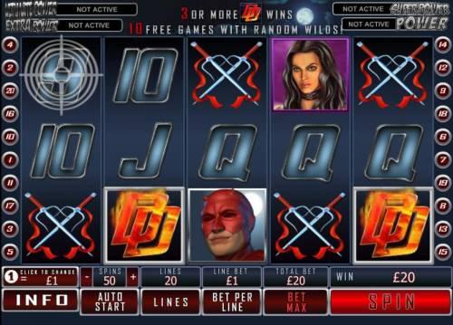 Daredevil Big Bonus Slots two scatter symbols trigger payout