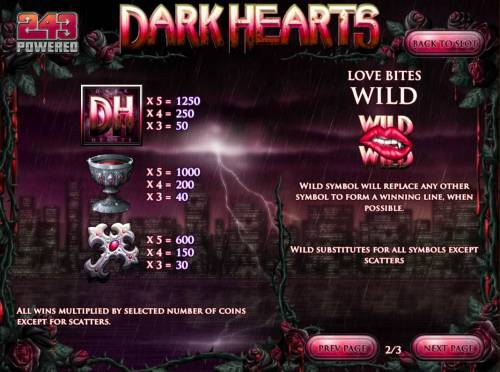 Dark Hearts review on Big Bonus Slots