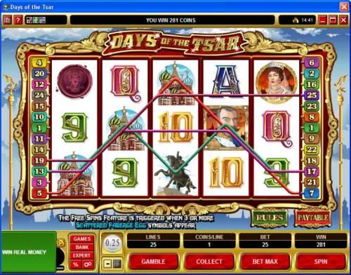 Days of the Tsar review on Big Bonus Slots