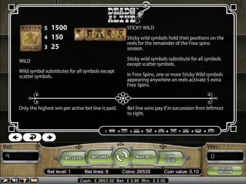 Dead or Alive review on Big Bonus Slots