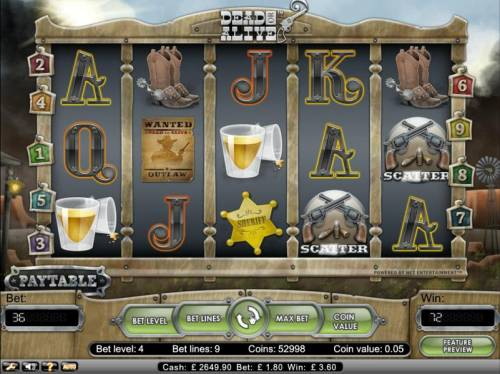 Dead or Alive Big Bonus Slots scatter payout