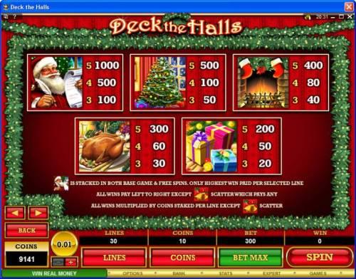 Deck the Halls review on Big Bonus Slots