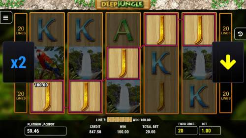 Deep Jungle Big Bonus Slots A winning Five of a Kind