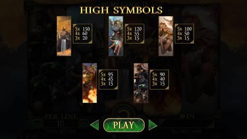 Demi Gods II review on Big Bonus Slots