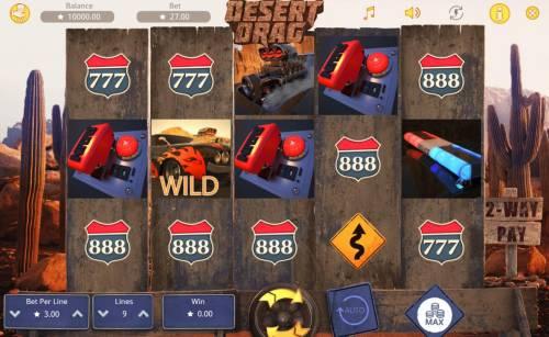 Desert Drag Big Bonus Slots Main Game Board