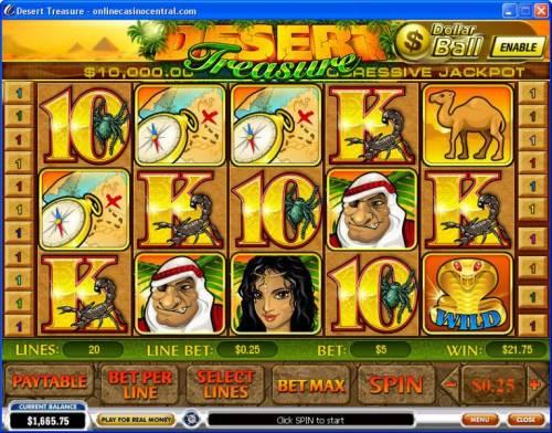 Desert Treasure review on Big Bonus Slots
