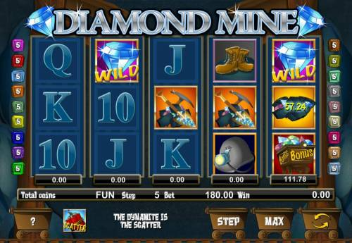 Diamond Mine Big Bonus Slots A rock symbol landing anywhere on the reels will add the jackpot for that particular reel