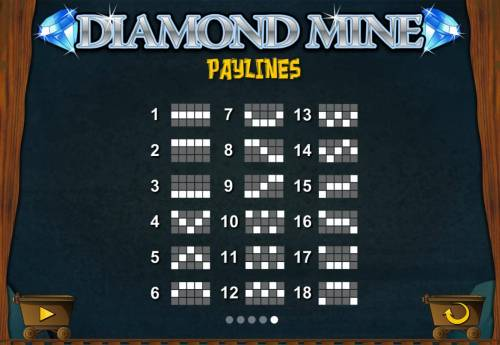 Diamond Mine Big Bonus Slots Paylines 1-18