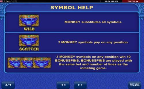 Diamond Monkey Big Bonus Slots Wild and Scatter Symbols Rules and Pays