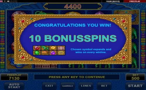 Diamond Monkey Big Bonus Slots 10 Free Spins Awarded