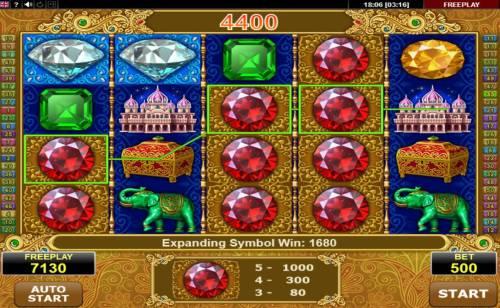 Diamond Monkey Big Bonus Slots Expanding symbol triggers a big win during the free games feature