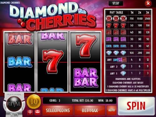 Diamond Cherries review on Big Bonus Slots