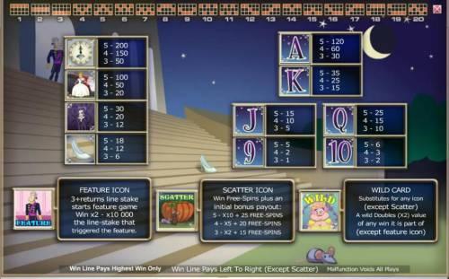 Diamond Slipper Big Bonus Slots Slot game symbols paytable