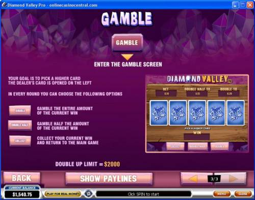 Diamond Valley Pro review on Big Bonus Slots