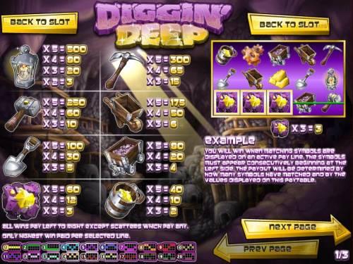 Diggin' Deep review on Big Bonus Slots